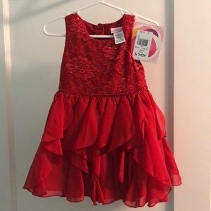 NWT red youngland holiday dress 2t toddler